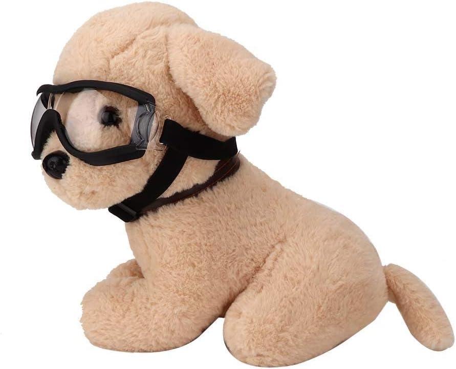 Black Pssopp Pet Glasses Dog Sunglasses Dog Glasses Windproof Waterproof Pet Goggles Ultraviolet-Proof Sunglasses Pet Decoration for Dogs