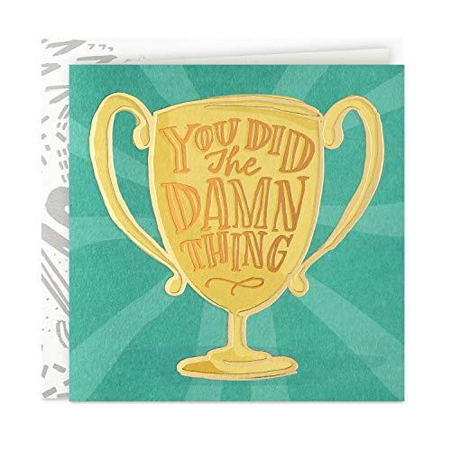 Hallmark Good Mail Congratulations Card (Did The Damn Thing)