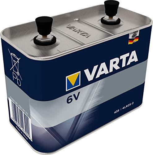 VARTA 6V Work Batterij Speciaal – Alkaline High Performance-blokbatterij 4LR25-2 met 6 Volt – compact en krachtig voor bouwlamp/stucadoorslamp/veiligheidsapparatuur/handschijnwerper