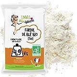 [MA] BIO-EPICERIE   Farina di grano bianca T65 BIO   Sfusa in confezione da 4,9 Kg   Certificata biologica   Ideale per pane, dolci e salse