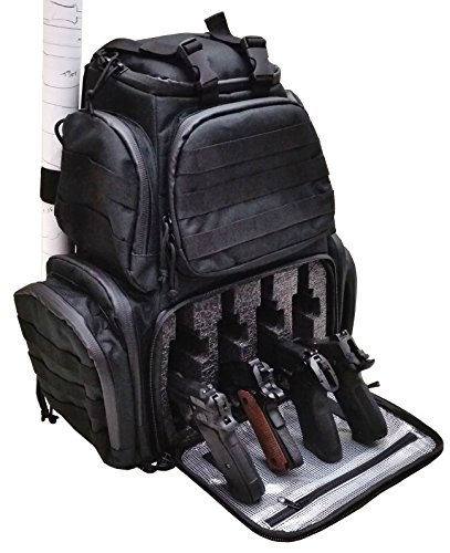 Case Club Tactical Pre-Cut 4-Pistol Backpack with Rainfly & Molle