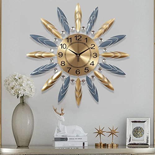 Metal Wall Clock Modern Silent Movement Battery Operated Star Clock Pop Color Quartz Clocks Room Decorative Living Room Bedroom Space Office Sofa Background Wall Painting Clocks 62 * 5 * 62cm