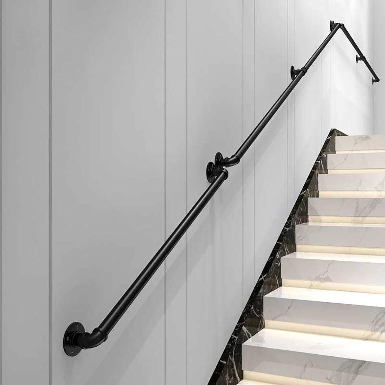 有効化茎残る(1ft-20ft)手すり一式、鉄パイプ階段手すり、サポート200kg、屋内と屋外の手すり軌道支持ロッド、廊下屋根裏装飾手すり (Size : 1ft)