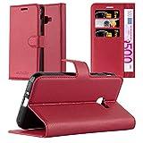 Cadorabo Hülle für Galaxy Xcover 4S in Karmin ROT - Handyhülle mit Magnetverschluss, Standfunktion & Kartenfach - Hülle Cover Schutzhülle Etui Tasche Book Klapp Style
