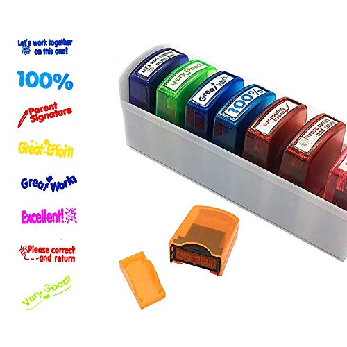 Newthinking Self Inking Rubber Stamp, Colorful Self-Inking...