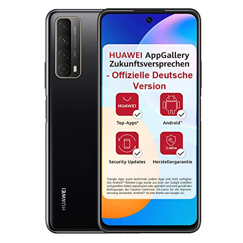 HUAWEI P smart 2021 Dual SIM Smartphone (16,94 cm - 6,67 Zoll, 128 GB interner Speicher, 4 GB RAM, Android 10 AOSP ohne Google Play Store, EMUI 10.1) midnight black + 5 EUR Amazon Gutschein