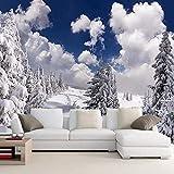 Papel tapiz 3D Invierno Nieve Foto Mural Hotel Sala de estar TV Sofá Fondo Mural Papel tapiz de naturaleza moderna-280X200cm