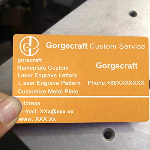 Black GORGECRAFT 50Pcs Metal Business Cards Blanks Laser Engraved Business Cards 0.4mm Aluminum Blank Name Card for Office DIY Gift Cards 3 Color Options Available