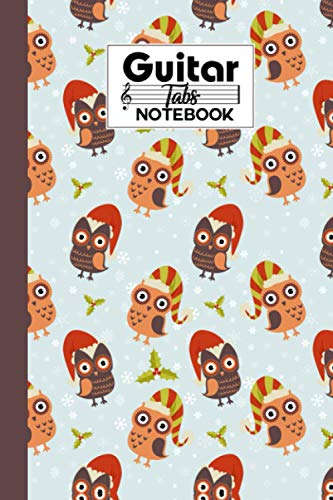 Guitar Tab Notebook: Owl Guitar Tab Notebook, Music Paper Notebook, Blank Guitar Tablature Music Note, 120 Pages - Size 6