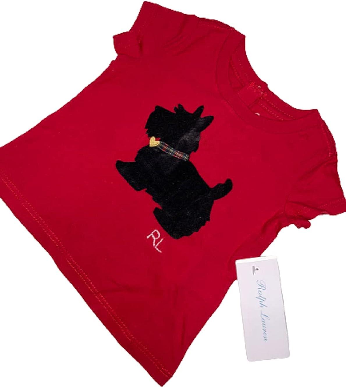 Polo Ralph Lauren RED Boys Popie Tee, US 3M