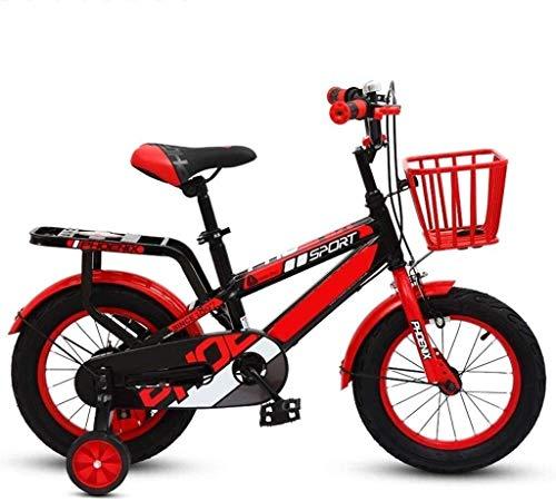 Bicicleta plegable para niños de 3 a 6 a 7 a 8 años con rueda auxiliar (color: 3, tamaño: 12 pulgadas) 3 de 12 pulgadas