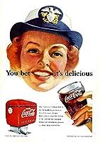 027F 1952年のレトロ広告 コカコーラ COCA-COLA CE