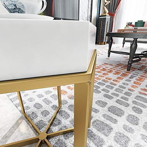 oupai MESAS Plancha Tabla Lateral, una pequeña Mesa de café Mesa Cuadrada Tabla Sofá Lateral de Madera sólida Mueble de la Sala Dormitorio Mesa Lateral Mesa 21.6x21.6x21.6 Pulgadas para el Dormitorio