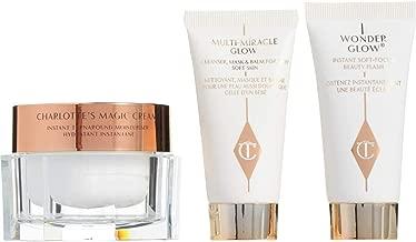 CHARLOTTE TILBURY Magic Cream Skin Set- Magic Cream 1 oz, Travel-size Multi-Miracle Glow and Wonderglow .5 oz each.