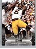 2020 Leaf Draft #58 Tyler Johnson RC Rookie Football Trading Card. rookie card picture