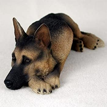 Tan & Black German Shepherd My Dog Figurine