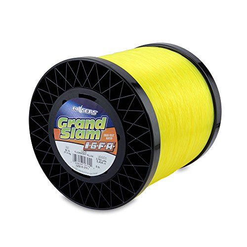 Hi-Seas pour Homme Grand Slam Igfa Mono Line Class 37 36,3 Kilogram (37 kg) Test .034 en (0.87 mm) Diamètre :, Fluoro Yellow