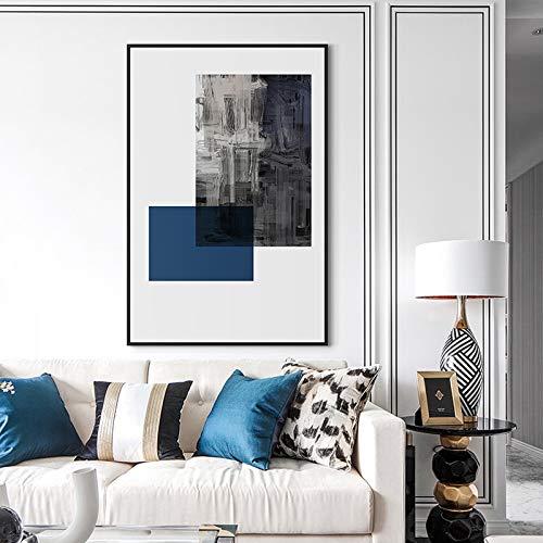 YuanMinglu Abstrakte Schule Leinwand Malerei Moderne minimalistische quadratische Poster und Druck Wandmalerei Wohnzimmer Dekoration rahmenlose Malerei 30x40cm