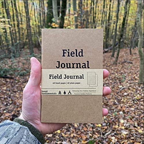 Diario de notas de campo de viaje | cuadernos de viaje | Papel rayado y liso | Hecho de materiales reciclados | Cuaderno de bolsillo
