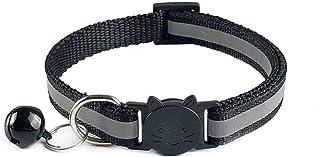Mascotas Perros Collares De Perro De Nylon Ajustables Collares De Mascotas Con Campanas Collar De Collar De Encanto Para Perros Pequeños Collares De Gato Venta De Suministros Para Mascotas, Negro
