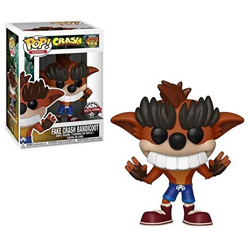 Funko - Figurine Crash Bandicoot - Fake Crash Bandicoot Exclu Pop 10cm - 0889698340977