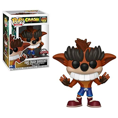 Funko - Figurine Crash Bandicoot - Fake Crash Bandicoot Exclu Pop 10cm - 0889698340977