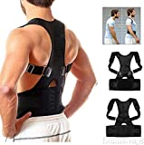 Wishbone 1Pc Adjustable Posture Corrector Upper Back Shoulder Support Brace and Corset Clavicle