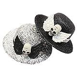 PIXNOR 2 Piezas de Calavera Sombrero de Casino Dados Juego de Póquer Calavera de Peluche Disfraz Sombrero de Juguete Accesorios de Disfraces para Niños Y Niñas
