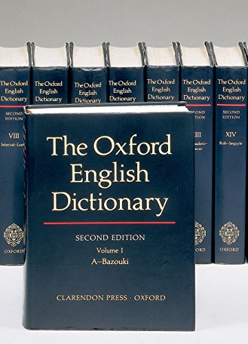 english dictionaries The Oxford English Dictionary, Volume 1-20, (20 Volume Set)