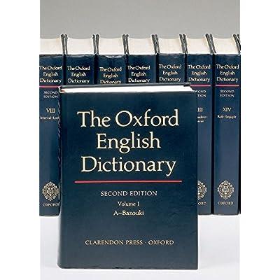 oxford english dictionary 20 volume set