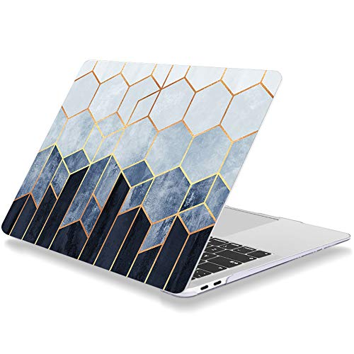 Laptop Case for Macbook Air 11 Inch A1370 A1465 Plastic Hard Shell Cover Blue Honeycomb