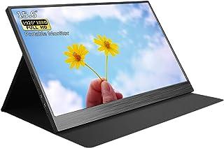 Kenowa Portable Monitor 15.6 Inch Computer Display 1920x1080 USB C Monitor Second Screen Full HD IPS HDMI Type C for Mini ...