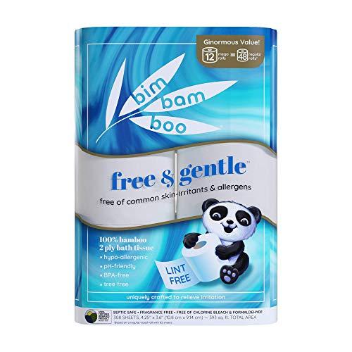 Bim Bam Boo 2ply Toilet Paper   Hypoallergenic Bamboo Formula