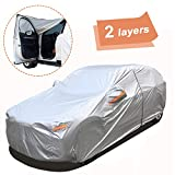 SEAZEN 2 Layers SUV Car Cover Waterproof All Weather, Outdoor Car Covers for Automobiles with Zipper...