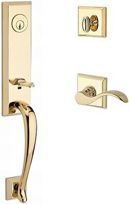 Grandeur 848705 Hardware Arc One-Piece Dummy Handleset with C Grip and Provence Knob in Satin Nickel Grandeur Hardware