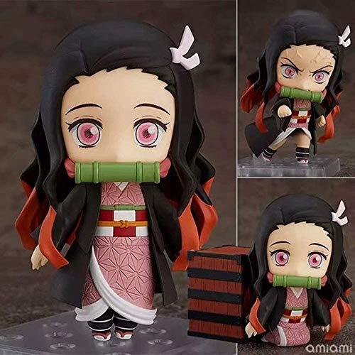 WADSF Demon Slayer Kamado Nezuko Q versión Toy intercambiable cara PVC Anime Cartoon Game Character Modelo Estatua Juguetes Collectibles Decoraciones Regalos Favoritos de Anime