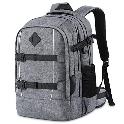 Rucksack Herren Damen Schulrucksack Jungen Mädchen Teenager, Schule Laptop Rucksack Daypacks für 15.6 Zoll Laptop Business Rucksack mit USB Ladeanschluss