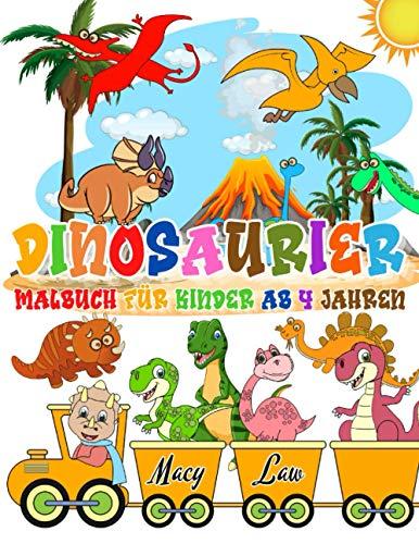 Dinosaurier Malbuch für Kinder ab 4 Jahren: 30+ Dino Malvorlagen für Jungen und Mädchen von 4 bis 8 Jahren