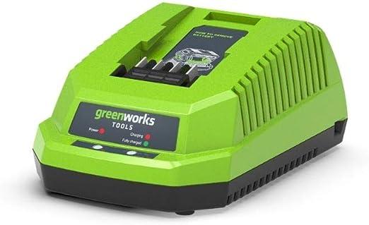 Greenworks Akku Ladegerät G40c 2 Generation Li Ion 40 V 2a 60 Min Ladezeit Bei 2ah Passend Für Alle Akkus Der 40 V Greenworks Tools Serie Baumarkt