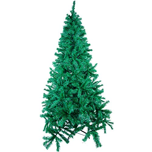 Uten 7ft Green Artificial Christmas Easy Assembly, Foldable Stand Christmas Decoration w/ 1,355 Branch Tips Metal Stand Perfect for lndoor and Outdoor.