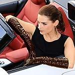 Women's Touchscreen Long Elbow Length Winter Thick Fleece Lined Gloves Buttons Touchscreen 6