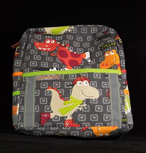 Kinderrucksack Kindergartentasche Drache mit Reflektorstreifen