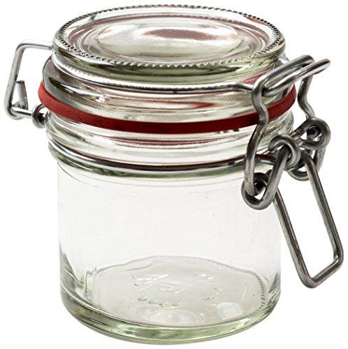 Nutley's Lot de 125 ML Clip Top préserver Jar