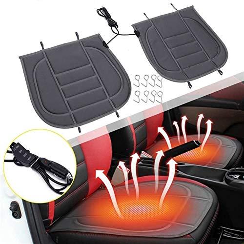 Auto Riscaldato Coprisedili Universale 12V riscaldata Coprisedili Auto Doppio Sedile Anteriore del Cuscino, Cuscini Termici Invernali termostato Riscaldamento del Sedile Auto Riscaldati Cuscinoris