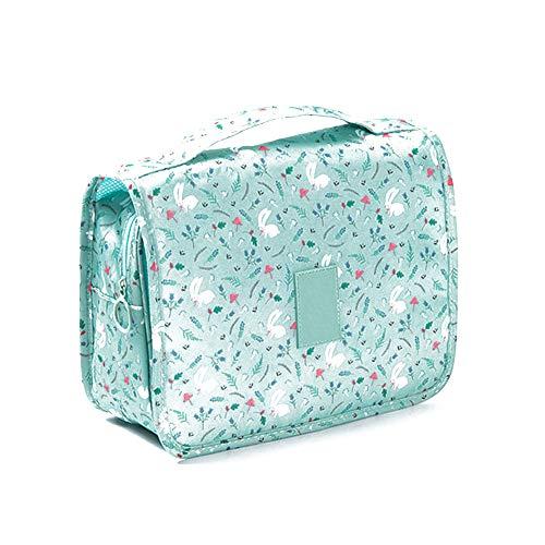 lujiaoshout Wash Voyage Sac d'impression Multifonction Portable Sac étanche Maquillage Toiletry Housse Organisateur Haute capacité pour Voyage (Style Lapin Vert)
