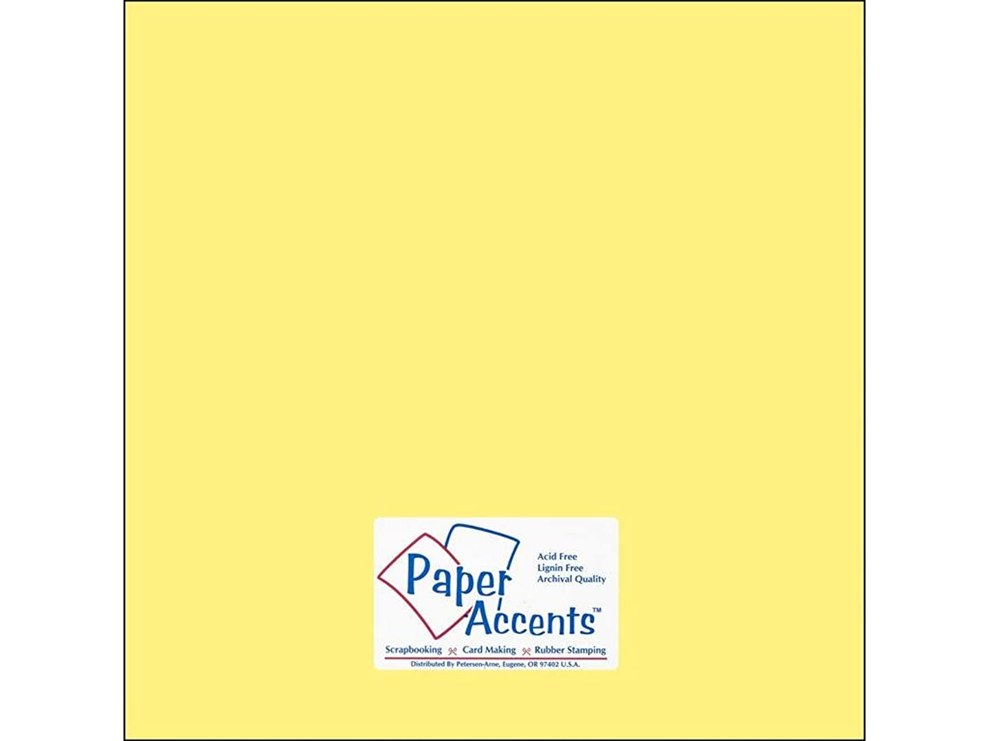 Accent Design Paper Accents Cdstk Smooth 12x12 60# Baby Yellow