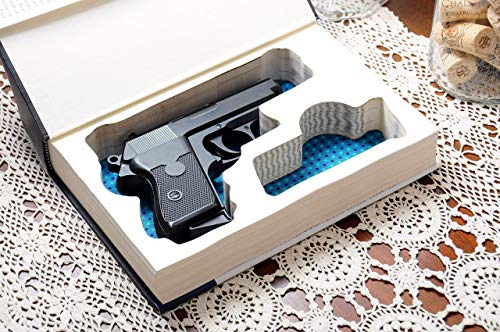 Custom-made Gun Storage Book Safe for Compact Handguns - Made-to-Order - Fits: Glock, Ruger, Springfield, S&W, Colt, CZ, Sig Sauer, Taurus, Kel-tec, Walther