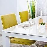 ANRO Tischfolie durchsichtig abwaschbar 2mm Transparent Tischdecke Weich PVC Folie abgeschrägte Kante V 45° 90x180cm Viele Größen (1000) - 4