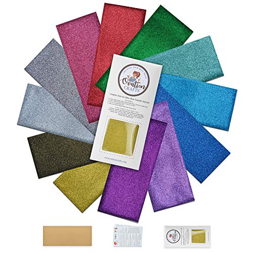 Ovation Crafts Glitter HTV Vinyl - Heat Transfer Vinyl - use with Cricut  Iron On Vinyl Bundle - Perfect for T Shirts - Sparkly Rainbow - Pressing Sheet & Great Directions are Included!