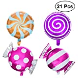 STOBOK 21 stücke süße süßigkeiten Luftballons Set runde Lollipop folienballon
